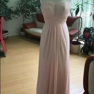 Davids bridal soft pink gown size 2